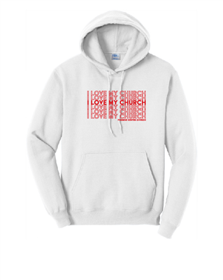 ILMC - Adult Pullover Hoodie White